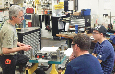 hands-on die training for shop-floor personnel