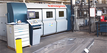 Salvagnini Model L5 3 kW fiber-laser cutting machine