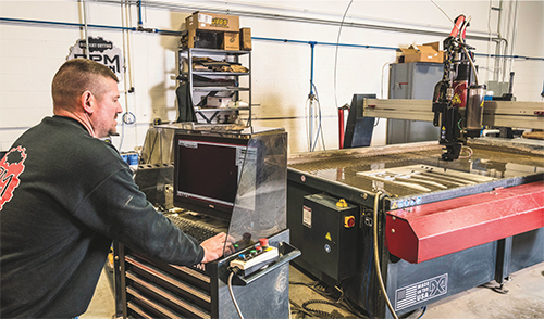 Articles - Shop Breaks from Pack with Waterjet Cutting