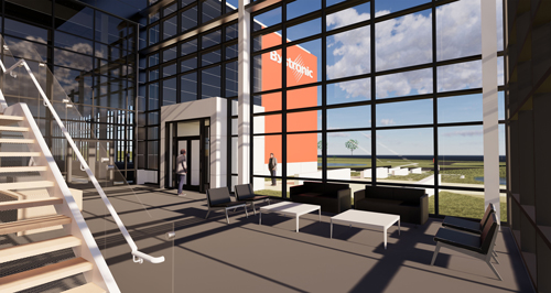 Bystronic new facility rendering