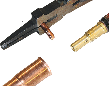 threaded consumables use brass to copper connections