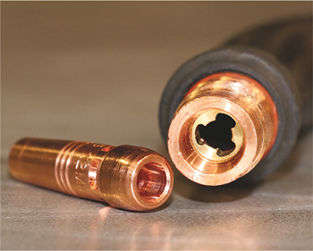 all copper conductive path of nonthreaded consumables