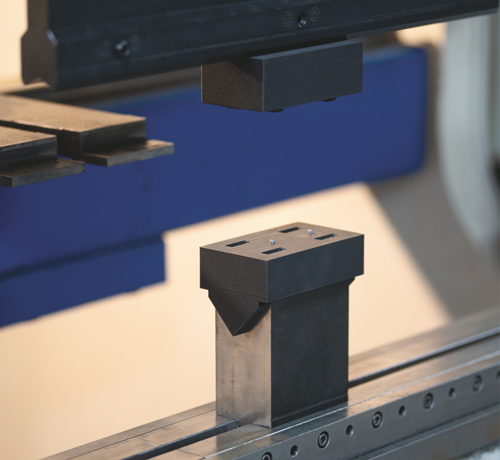 steel-reinforced press-brake punch and die, produced via 3D printing