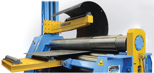 Carell Corp. four roll double pinch hydraulic plate rolls