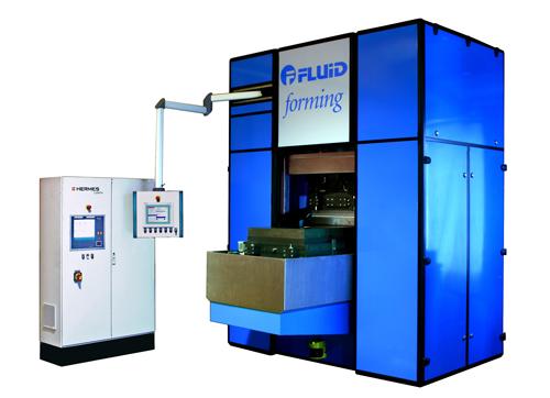 FluidForming Americas hydroforming machine