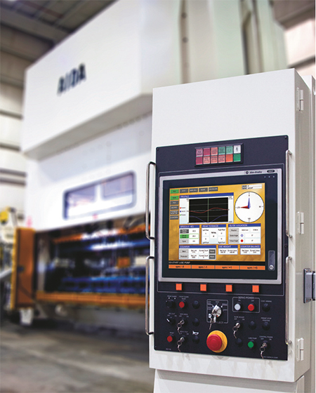 Aida DSF-series servo press control