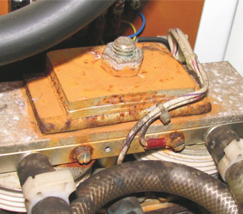 Condensation can cause problems inside of welder controls