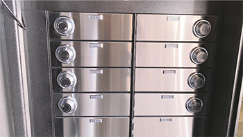 A completed VSI American-series safe deposit box