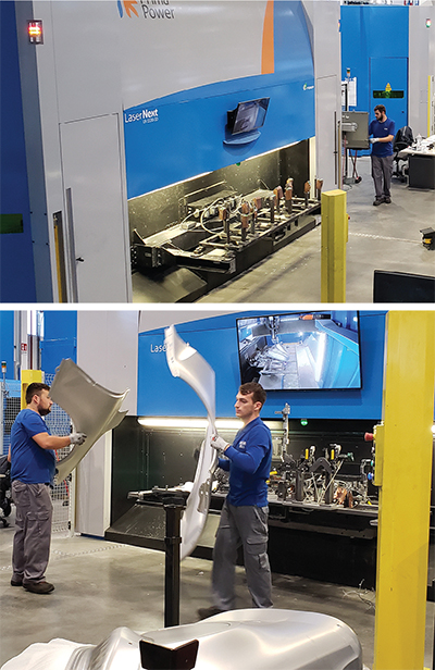 Four Course/Five axis laser cutting Prima Power