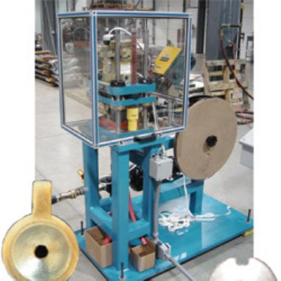 Pneumatic Press Punches Tin Caps for EEG Equipment