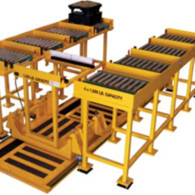 Die-Change Rail Car, Multi-Cell Storage Rack