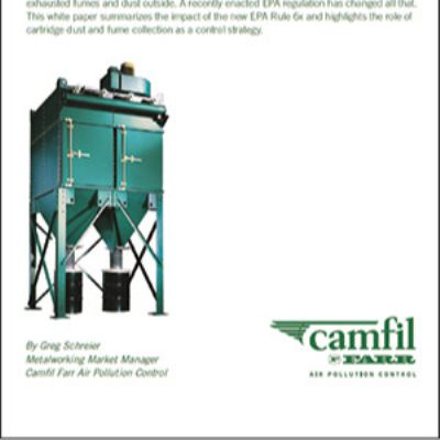 White Paper Addresses EPA Emission Standard on Dust Collection