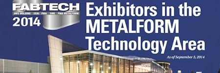 FABTECH 2014—Exhibitors in the METALFORM Technology Area