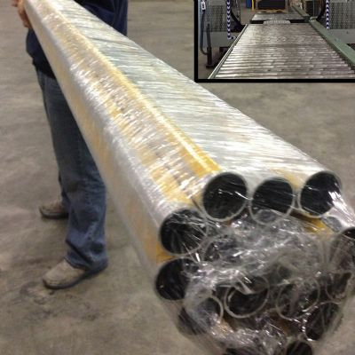 Orbital Stretch Wrapping of Conveyor-Fed Products