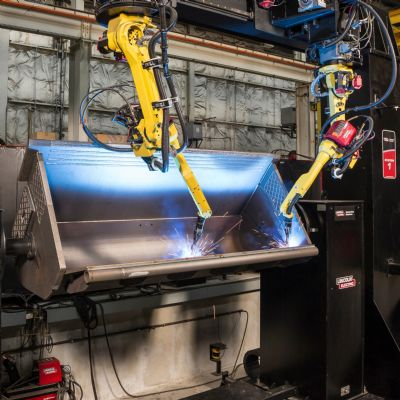 Gantry Robot System Eases Bucket Fabrication