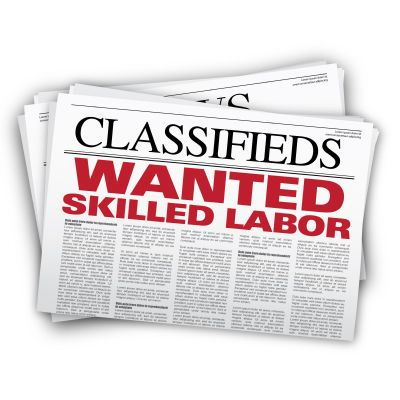 Classifieds: Wanted Skilled Labor