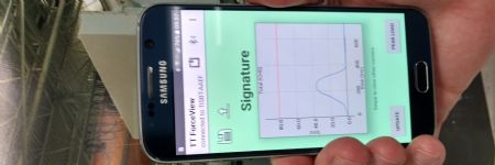 Phone App Monitors Press Tonnage