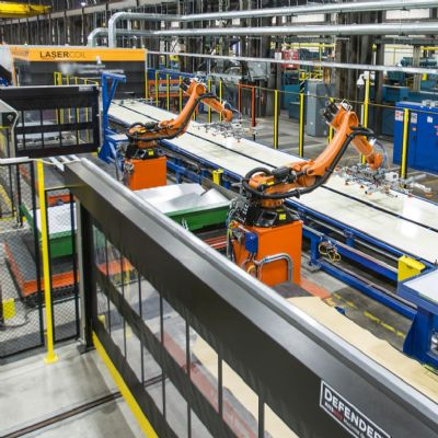 Automated Stacking Extends Blanking-Line Capability