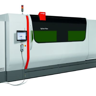12-kW Fiber Laser with Newly Designed Cutting Head