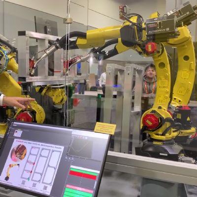 Fanuc Arc Mate 100id Arc Welding Robot as seen at ...