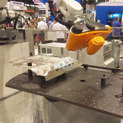 Robotic Inspection System with 3D Vision