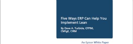 Five Ways ERP Can Help You Implement Lean