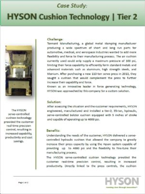 Hyson Cushion Technology Tier 2