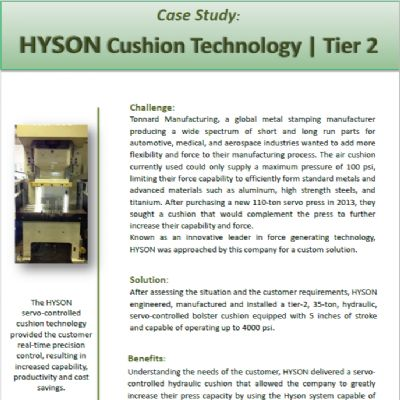 Hyson Cushion Technology Tier 2