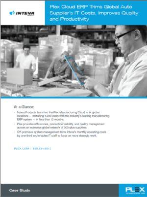 Plex Cloud ERP Trims Global Auto Supplier's IT Costs