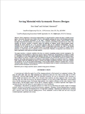Saving Material with Systematic Process Designs