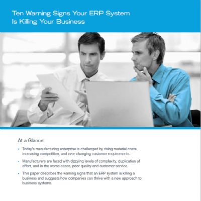 Ten Warning Signs Your ERP System Is Killing Your Business