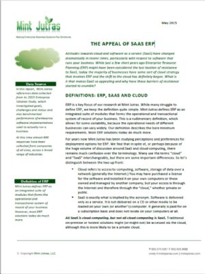 The Appeal of SAAS ERP