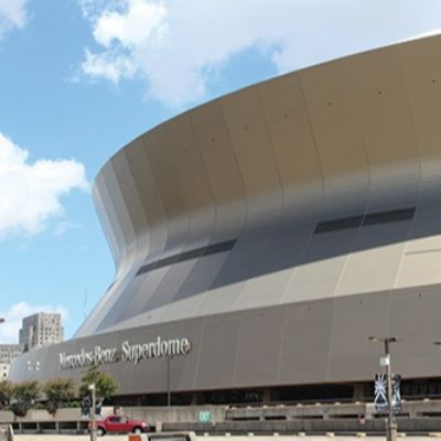 Anodized Aluminum Finishes the Superdome
