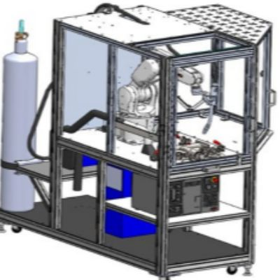 Mobile, Robotic Welding-Training Cart Suitable for the Plant Floo...