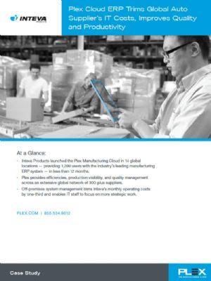 The Plex Manufacturing Cloud