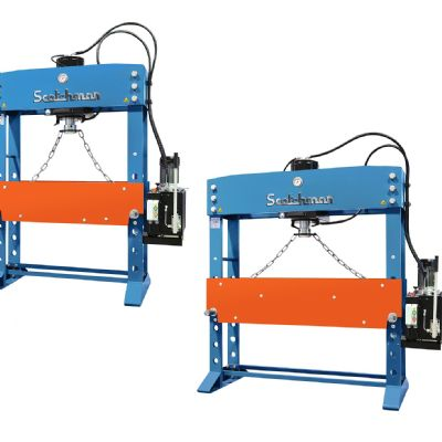 Hydraulic Presses Boast a Flexible, Open-Sideframe Design