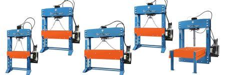 Hydraulic Presses Boast a Flexible, Open-Sideframe Design