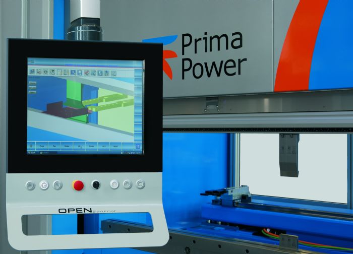 B prima power press brake control bending simulation