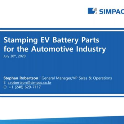 Stamping EV Parts for the Automotive Industry