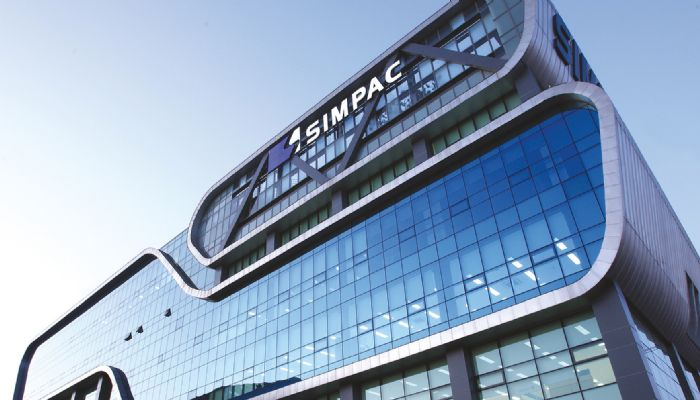 Simpac building and logo