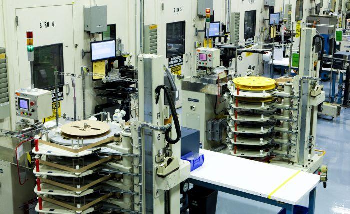 high speed presses at JAE Oregon