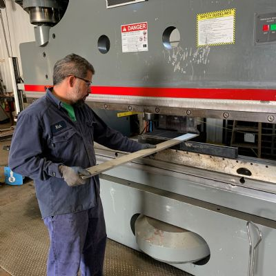 Press Brake's Big Bends Ease Custom-Fab Work