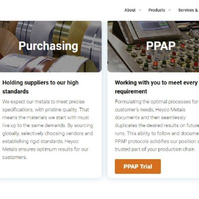 Heyco Metals Launches New Website