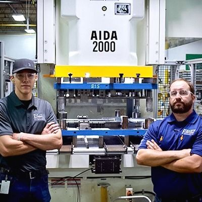 A New Aida Servo Press at Quality Metal Stamping Returns a N...