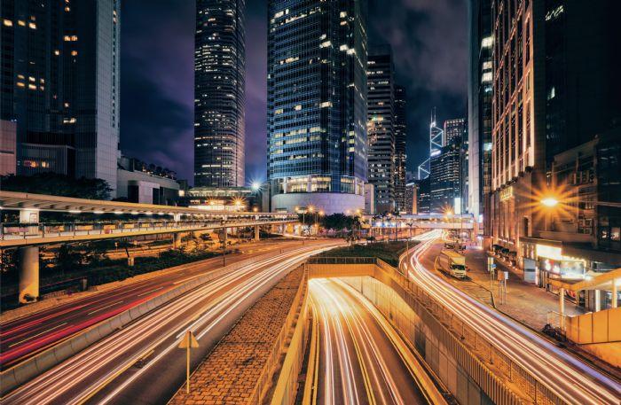 street-traffic-hong-kong-night