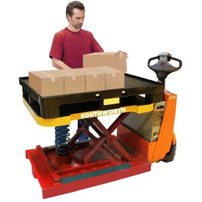 Pallet-Truck Attachment Adjusts Load Height for Improved Ord...