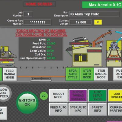 Advanced Graphical-Display PLC Feed-Line Control