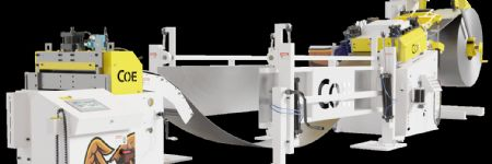 Servo Feed Line Featured, with Automated Straightener Setup