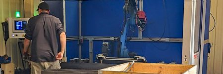 Fabricator on a Quick Robotic Welding Learning Curve